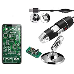 Jiusion portable magnification is a useful and funny microscope for students, engineers, inventors, and others who need to magnify and explore the micro things. Be compatible with Mac, Window XP and above, Linux. This microscope isn't compatible with...