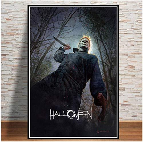 Klassische Horrorfilm Collage rahmenlose Plakatdrucke Malerei Wandkunst Leinwand Bilder Wohnzimmer Wohnkultur 40x50cm (15.74x19.68 in)