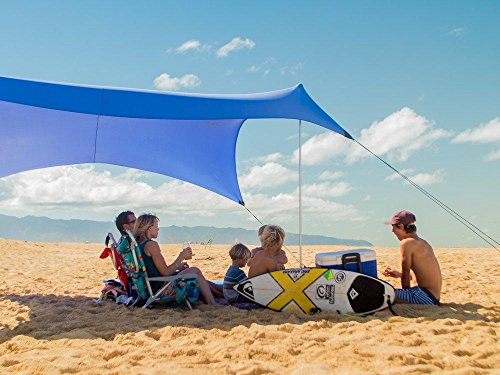 Neso Grande Beach Tent with Sand Anchor, Portable Canopy for Shade - Multiple Colors (Periwinkle, Large)