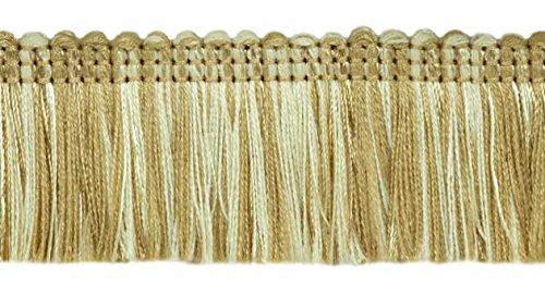 24.7 Meter Value Pack Brush Fringe Trim 45mm Style#: 0175HB Color: 4001 (Ivory Light Beige)