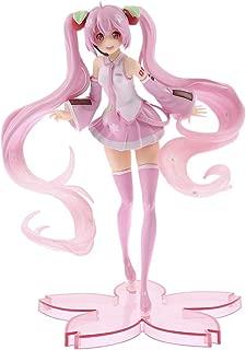 Bowinr Sakura Miku PVC Figure, Premium Collectible Vocaloid Hatsune Miku Kawaii Action Figure