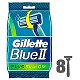 Gillette - Blue II Plus Maquinilla de afeitar desechable (paquete de 8)