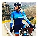 LYDIANZI Maglie da Ciclismo Traspiranti TRIATHLON TRIATHLON DONNA Abito da ciclismo in bicicletta in bicicletta imbottita ad asciugatura rapida (Color : D, Size : S)
