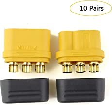 10 Pair Amass MR60 connector plug female and male connector 3.5 bullet connector for motor ESC connection