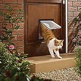Maran Chatière à 4 Voies verrouillable pour Porte en vitre/Porte en UPVC, Durable, entrée et Sortie pour Chats, Petits Chiens, Porte pour Animaux domestiques, Installation Facile