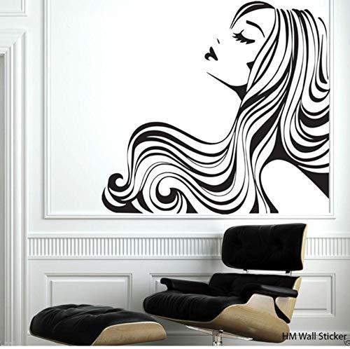 ZZDJ Fließende Haarparty-Dekor-Familie RemovableDecal für Zuhause oder Schönheitssalon