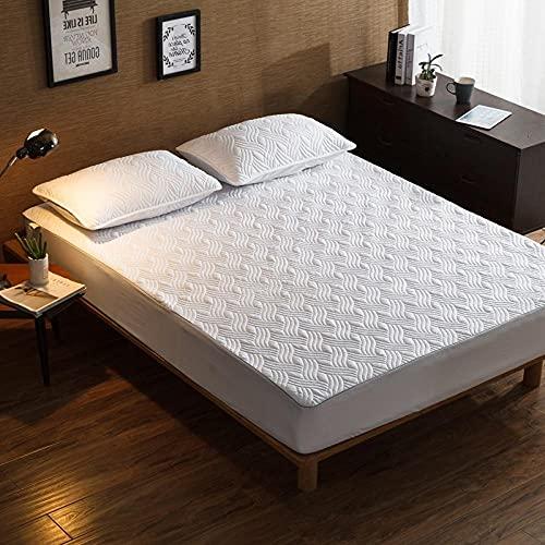 CYYyang Protector de colchón de bambú Funda de colchón y Ajustable Una Sola Pieza de sábana gruesa-16_150 * 200cm