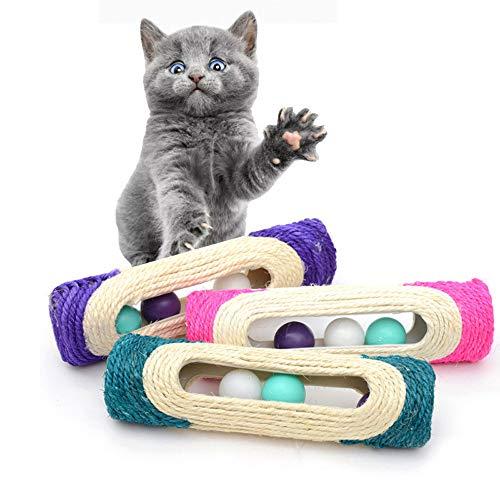 1PC Cat Toy Scratching Post,Pet Cat Kitten Kitty Rolling Sisal Scratching Post 3...