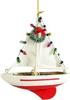 Sailboat Christmas Tree Ornament 5 1/2 Inch