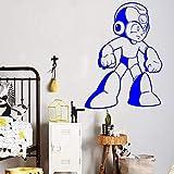 Geiqianjiumai Game Hero Vinyl Wandaufkleber Video Wandtattoo Spiel Retro Home Indoor Kinderzimmer Dekoration Kind Abnehmbare Blau 57x77 cm