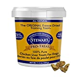 Stewart Pro-Treat, Freeze Dried Chicken Liver Dog Treats, Single Ingredient, Grain Free, USA Made, 11.5 oz. Resealable Tub