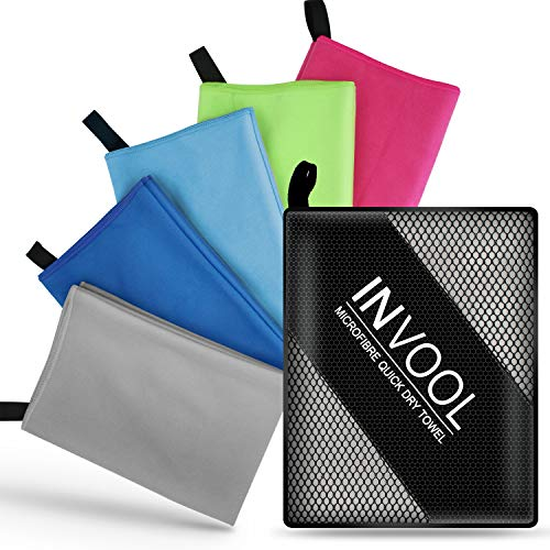 Camping Pilates Fitness Bath Beach Yoga Awroutdoor Microfibre Beach Towel with carrying Bag for Gym Extral Large Quick Drying Sport Towel Super Absorbent Swing Towel Travel Hiking Shower
