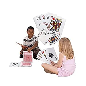 """Super Z Outlet Giant Jumbo Deck of Big Playing Cards Fun Full Poker Game Set - Measures 8-1/4"""" x 11-3/4"""" by Super Z Outlet"""