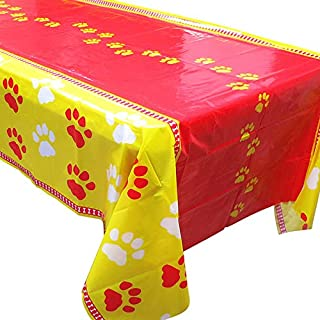 Blue Orchards Puppy Party Tablecovers (2), Paw Puppy Decorations, Birthday Supplies