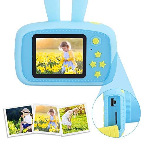 Hopcd Kinderkamera für Jungen und Mädchen, 2,0-Zoll-Bildschirm 20,0 MP 1080P Digitale Videokamera, Mini-Cartoon Kinderspielzeug-Camcorder für 3-10 Jahre Jungen Mädchen Geburtstag (blau)