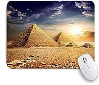 NIESIKKLAマウスパッド エジプトの金のファラオのミイラ ゲーミング オフィス最適 高級感 おしゃれ 防水 耐久性が良い 滑り止めゴム底 ゲーミングなど適用 用ノートブックコンピュータマウスマット
