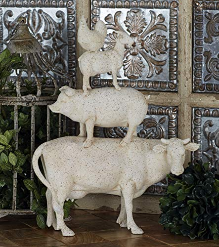 Deco 79 Trendy PS Stacking Animals  White