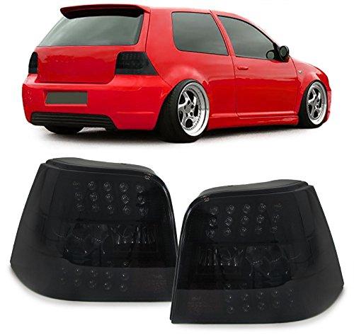 Carparts-Online 29881 Klarglas LED Rückleuchten schwarz smoke