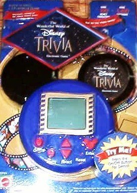 The Wonderful World of Disney Electronic Trivia Game by 2001 Mattel/ Walt Disney Co.