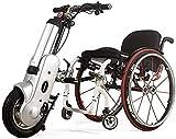 Bicicleta de Mano eléctrica conectable Silla de Ruedas 36V 400W con neumáticos de 12'Velocidad de 20 km H con luz LED Silla de Ruedas Plegable Silla de Ruedas Deportiva