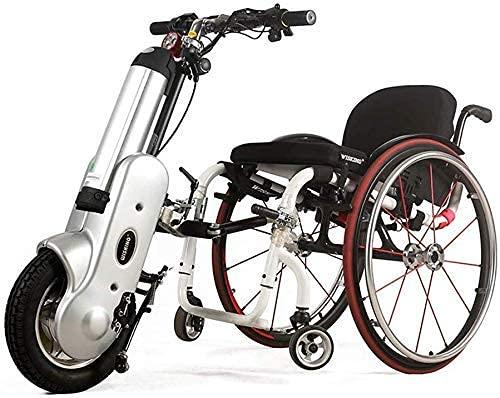 Bicicleta de Mano eléctrica conectable Silla de Ruedas 36V 400W con neumáticos...