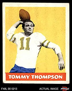 1948 Leaf # 9 YEL Tommy Thompson Philadelphia Eagles (Football Card) (Yellow Jersey Number) Dean's Cards 4 - VG/EX