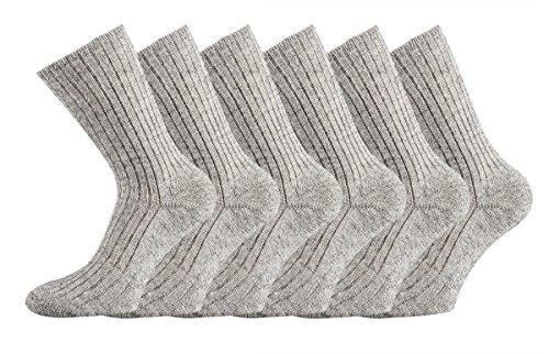 TippTexx 24 3 Paar Wollsocken aus Schafwolle, NATUR PUR mit zusätzlicher Garantie (39/42-3 Paar)