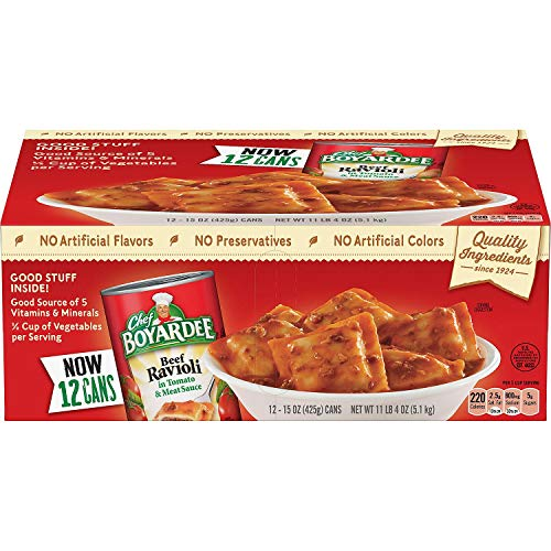 Chef Boyardee Beef Ravioli 15 oz. can, 12 pk. A1