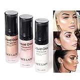 Flüssiger Leuchtmarker Cocohot Glow Illuminator Gesichtslippe erhellen Ultra Glatt Gesicht Make-up Textmarker 6ml A3)