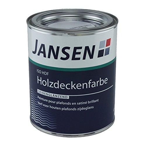 Jansen ISO-HDF Holzdeckenfarbe weiß 750ml seidenglänzend Grund und Deckanstrich