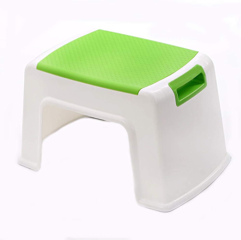Seat 21cm 8.3inch Plastic Stool with Handlebar Anti-Slip Stool, Multi-color Optional (5 Stools) (color   Green)