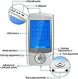 CARYWON Masajeador Electroestimulador Digital EMS TENS Masaje Recargable 16 Modos 8 Pads 2 Canales Estimulador Muscular Recargable Masajeador Electro