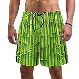 LORVIES Planta verde oriental de bambú para hombre, secado rápido, talla L multicolor L