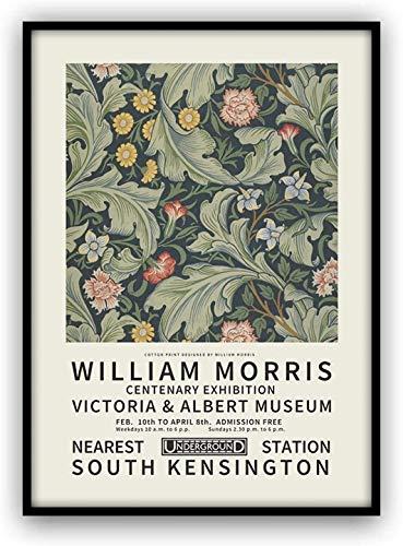 ウィリアム・モリス 画2 A4サイズ 額縁付き