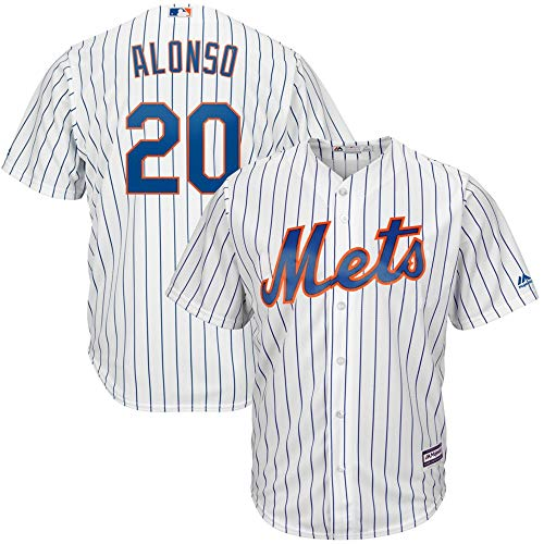 Pete Alonso New York Mets MLB Boys Youth 8-20 Player Jersey (White Home, Youth Medium 10-12)