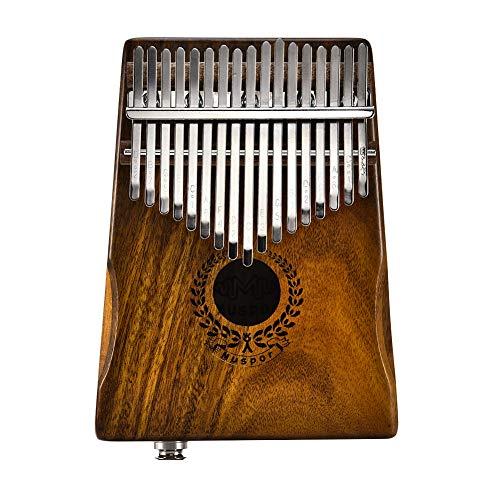 Mbira Calimba Kapazien-Klavier mit 17 Tasten und Daumen-Klavier und Kalimba-Musikgeschenk, Link-Lautsprecher, elektrischer Tonabnehmer mit Tasche + 3 m Kabel