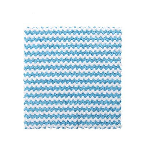 ZHAOSHOP Cocina Anti-Grasa Limpieza de Trapos Eficiente Super Absorbente Microfibra Limpieza Paño Hogar Lavado Plato Cocina Limpieza Toalla (Color : Blue 1)
