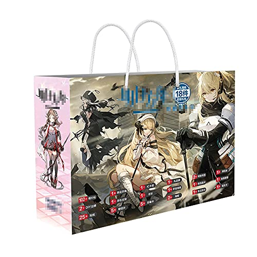 FUYUNDA Arknights/Anime Gift Box/Gift Bag Anime/Mystery Box Items/Anime Peripheral/Postcards/Badges/Posters/Themed Collectibles/Best Anime Fans Birthday Gift Set