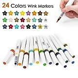 colores marcadores plumas set 24 Colores Glitter Marker Pen Set Sketch Marker Pincel Pluma 16cm Wink Sparkle Shine Dibujo Marcadores Herramientas De Pintura Herramientas Herramientas