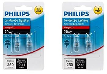 Philips 417204 Landscape Lighting 20-Watt T3 12-Volt Bi-Pin Base Light Bulb 2 x 2 Pack