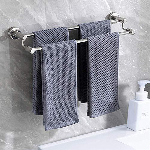 Toallero Baño, Toallero Pared Acero Inoxidable Almacenamiento de toallas de acero inoxidable de acabado pulido multifunción, riel de toallas de baño montado en la pared, barra de toalla doble, para ba