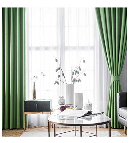Nileco volledig verduisterend effen gordijn, geluidsisolerend raam drapeert eenvoudige decoratieve gordijnplaten voor slaapkamer woonkamer 1 stuks