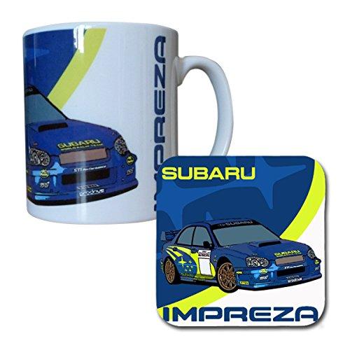 Subaru Impreza WRC Rally Car Mug & Coaster