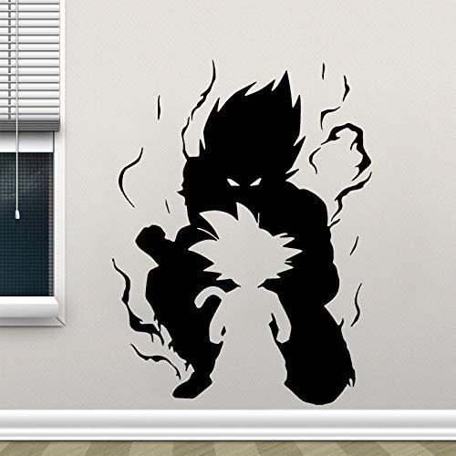Dragon Ball Z Wall Vinyl Decal Video Game Poster Dragon Ball Wall Sticker Super Saiyan Goku Anime Wall Painting Cartoon Art 57x76cm