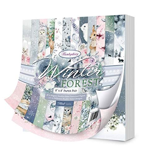 Hunkydory Crafts - Winter Forest - 8  x 8  Paper Pad - 48 Papers, 12 Designs