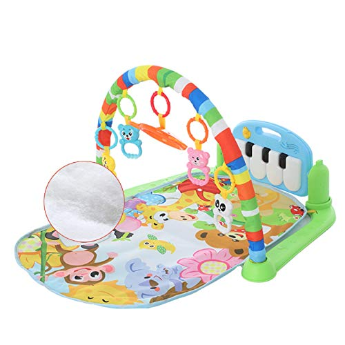 MorNon 4 in 1 Baby Play Mat Crawling Carpet Play Mat Play Mat Music Toy Music Activity Mat Portable Play Mat With Bow And Piano