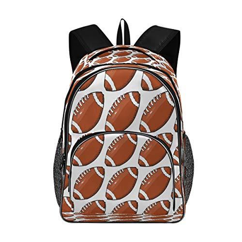 Laptop-Rucksäcke für Damen und Herren – American Football, handgezeichnet, großer Rucksack für 43,2 cm (17 Zoll) Computer-Büchertasche für Schule, Büro, Reisen, Shopping