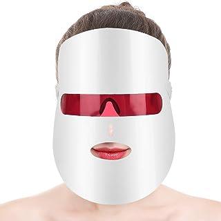 LED-gezichtsmasker, 7 kleuren LED-fotontherapie, acne-behandelingsmasker, huidverjongingstherapie huidverstrakking beauty ...