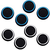 Fpxnb 4 Pairs 8 Pcs Analog Stick Thumb Grip Set, Silicone Cap Joystick Protective Covers, Compatible with PS4 PS3 PS2 DualShock WiiU Xbox One 360 Wireless Controller (Pack of 8)