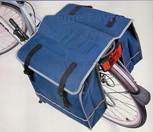 BICYLE GEAR Gear-Sacoches de vélo/Bicycle Panniers avec des Crochets réglables, poignée de Transport, réfléchissante de 3M et 2 Grandes Poches Unisex-Adult, 37x43x30 cm